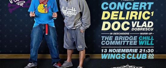 DOC, Deliric1, Vlad Dobrescu Club Wings 13 noiembrie Bucuresti Rohiphop