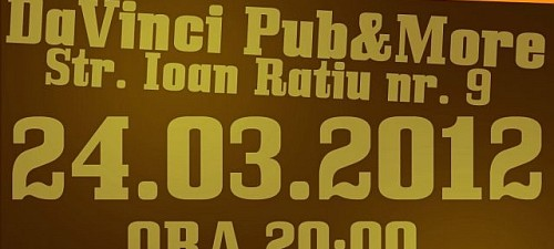 Lansare Album No Sens Da Vinci Pub & More Sibiu  24 Martie 2012 Rohiphop